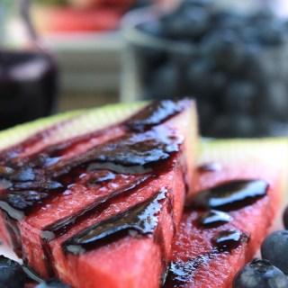 Blueberry Glazed Watermelon