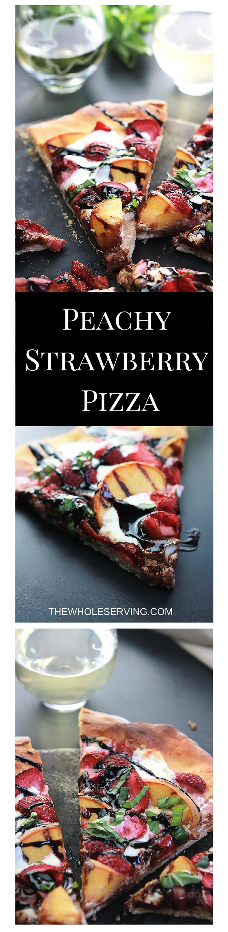 Sweet strawberries, grilled peaches and burrata cheese make this Peachy Strawberry Pizza one you'll want to make over and over .