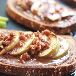 Almond Butter Apple Cinnamon Toast