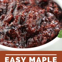 Easy Maple Fig Mint Jam