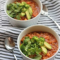 Spicy Lentil Sweet Potato Stew