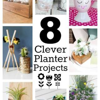 Pretty Pintastic Party #158 & 8 Clever Planter Projects
