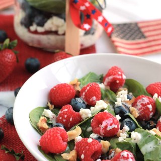 Red White & Blue Salad with Poppy Seed Dressing