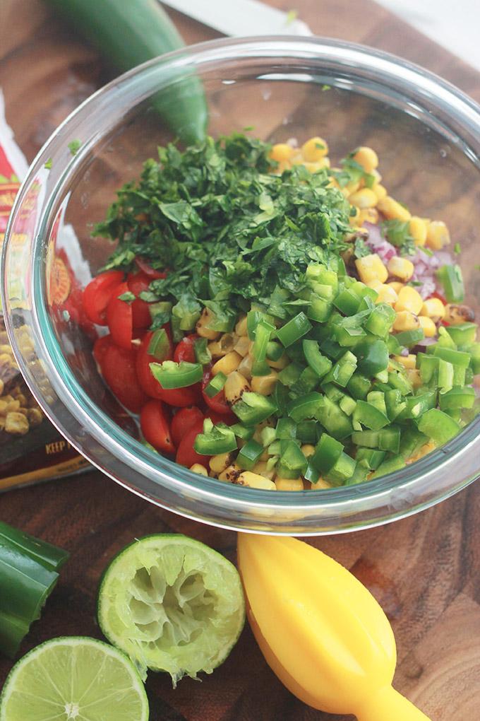 Bowl of Salsa Ingredients