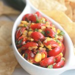 Close up of Fire-Roasted Corn Pico Style Salsa