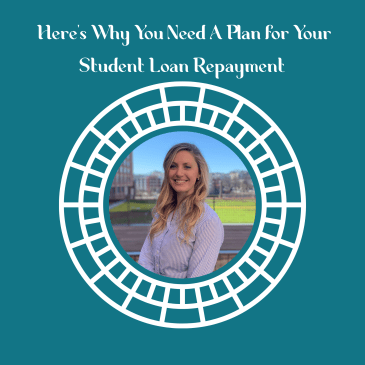 why you need a plan for your vet student loan repayment podcast cover featuring meagan landress