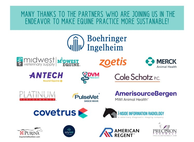 thank you to the sponsors of the sustainability in equine practice seminar and retreat