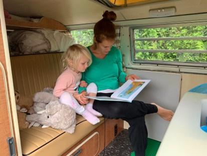 Reading in the van