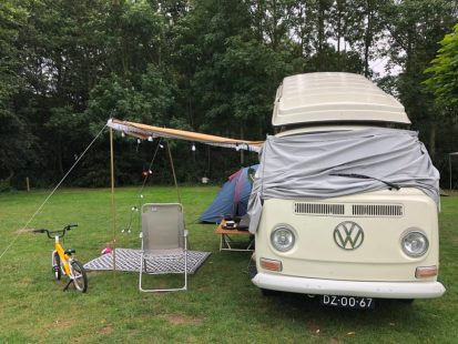 Camping a VW bus in Holland