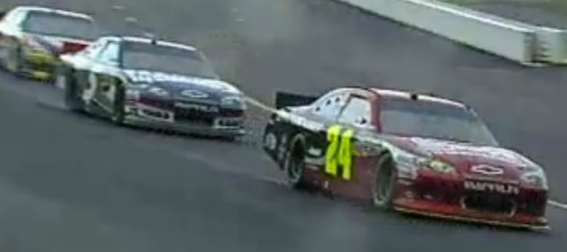 jeff-gordon-leads-pack-of-racers-at-rain-soaked-pocono