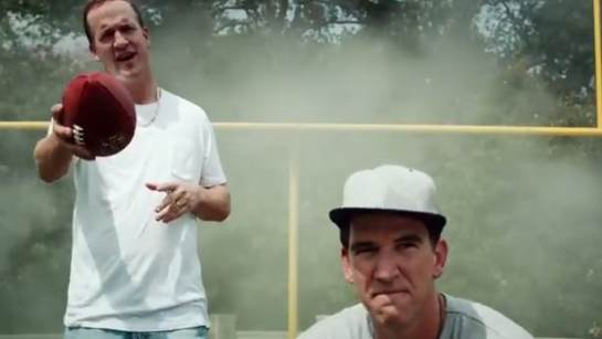 Peyton and Eli Manning have a new DirecTV rap video