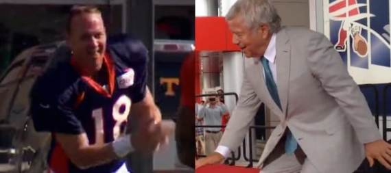 Peyton Manning and Robert Kraft both have dance moves