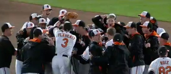 Orioles celebrate 2014 AL East division title