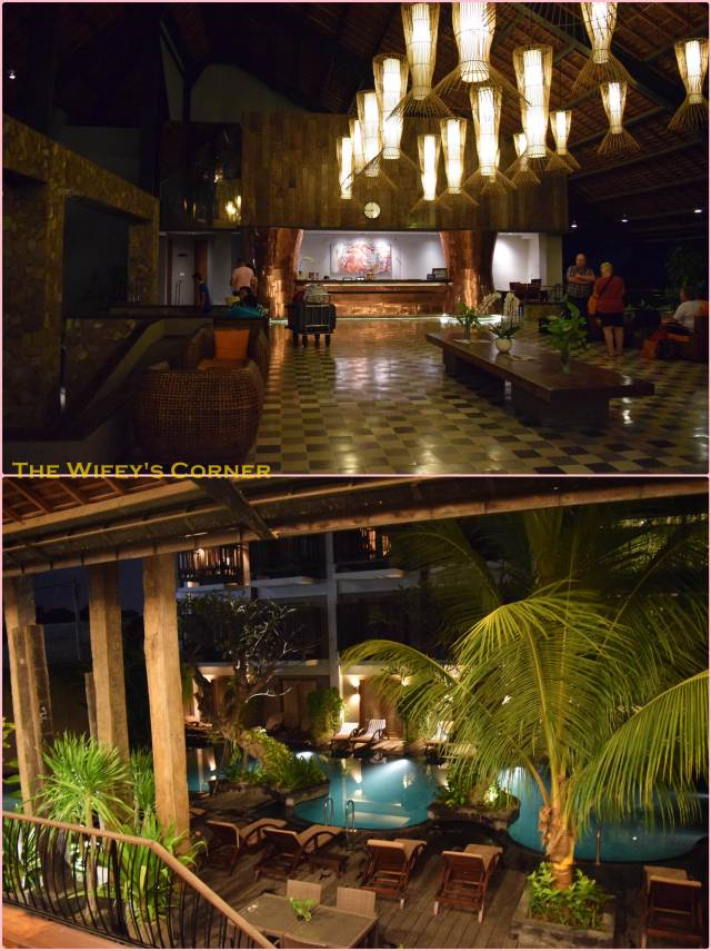 Lobby and glimpse of the pool area