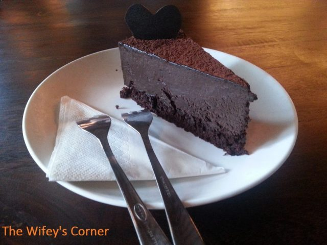 Chocolate Mousse Cake - yes we are in chocolate heaven!