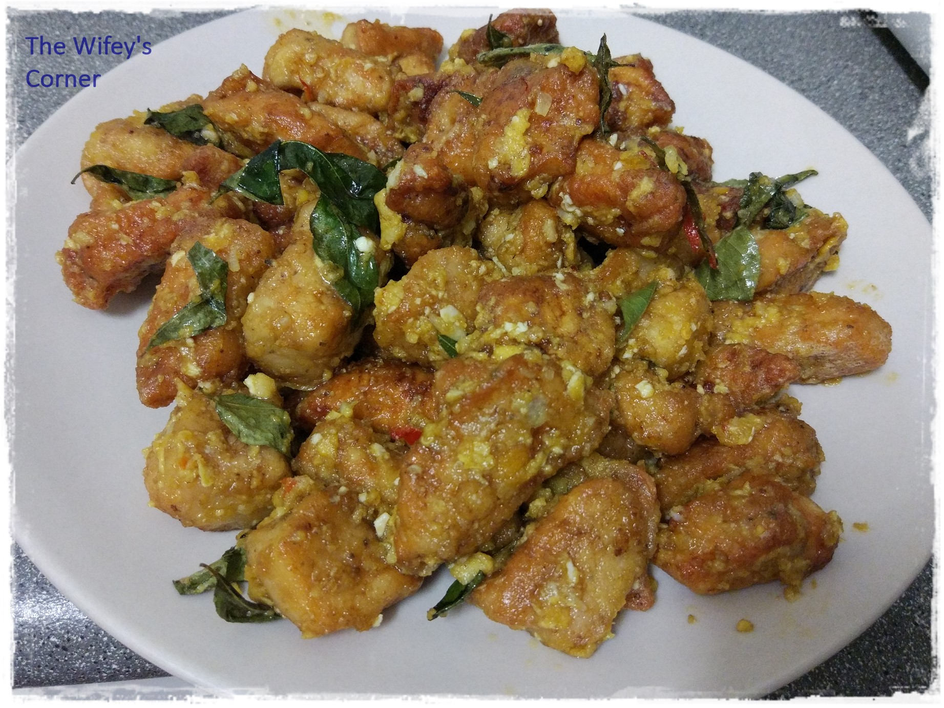 Fried Chicken with Salted Egg
