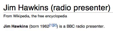 Introduction to Jim Hawkins Wikipedia article.