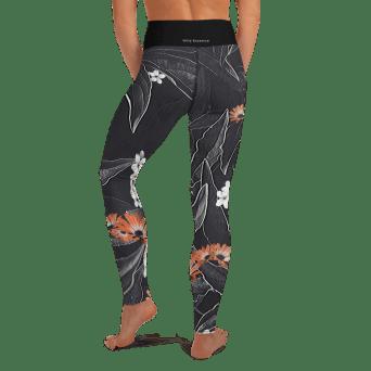 Black Floral Yoga Leggings
