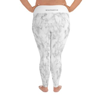 the wild essence white plus size leggings