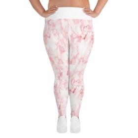 Pink marble plus size leggings size XL-6XL