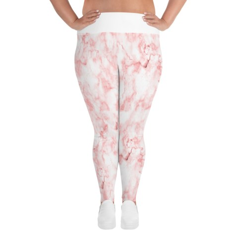 Pink marble plus size leggings size XL-6XL