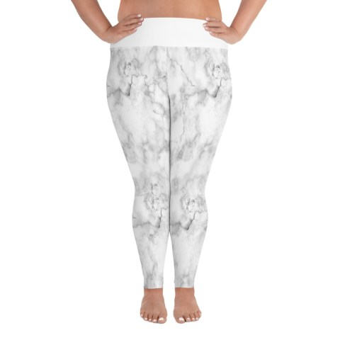 white plus size leggings