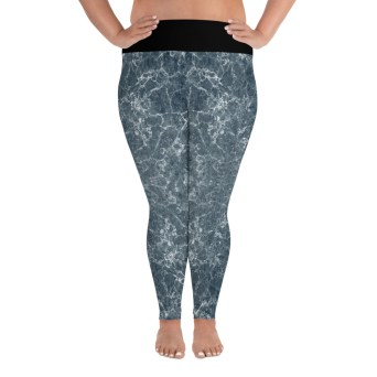 grey marble plus size leggings