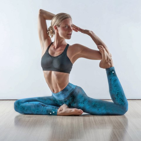Dark Blue Sky Yoga Leggings