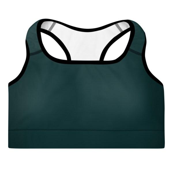 Dark Green Yoga Bra