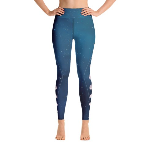 Blue Moon Phase Yoga Leggings
