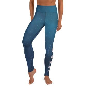 Blue Moon Phase Yoga Leggings