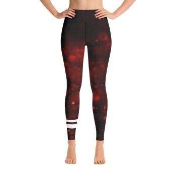 Dark Red Yoga Pants