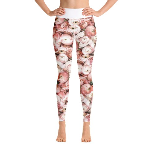 floral attractive yoga leggings