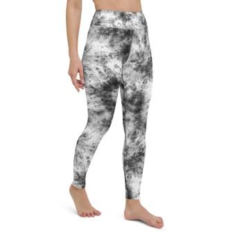 Black White Tie Dye Leggings