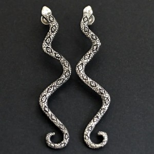 bespoke snake earrings