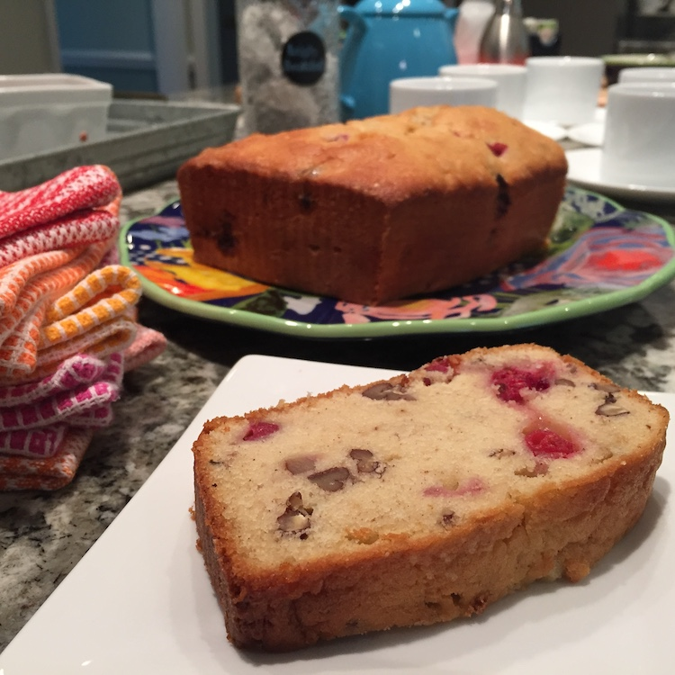 serving of Cranberry-Orange Pecan Bread