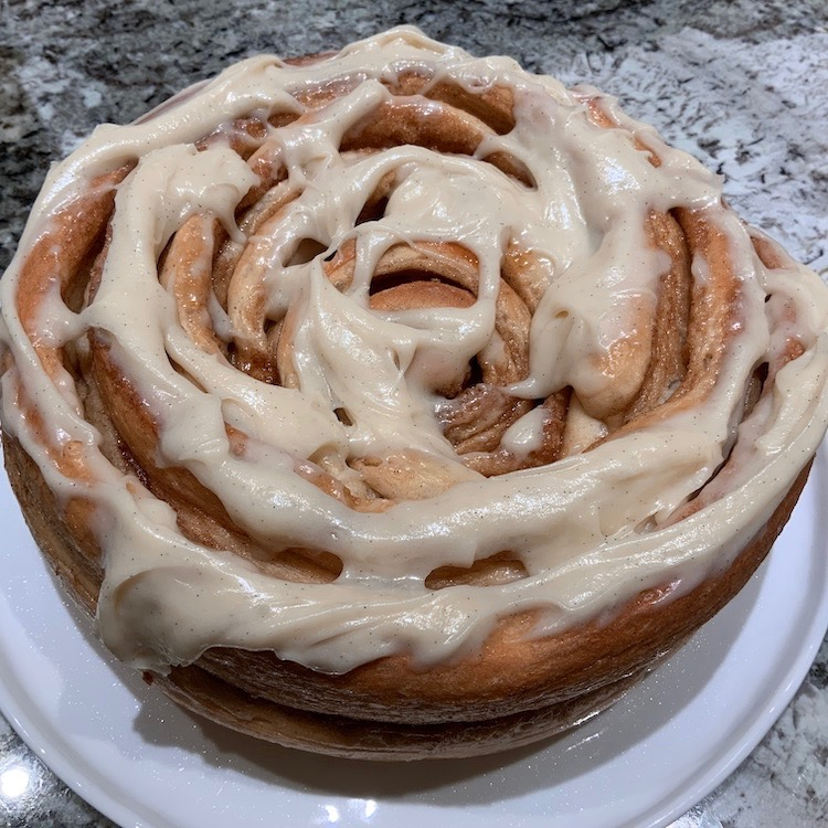 Colossal Cinnamon Roll with Cream Cheese Frosting | Cinnamon Rolls | Yeast Breads