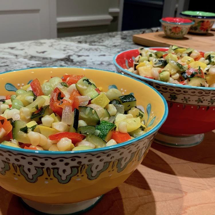 Summer Succotash | Veggie Blends | Sauteed Veggies | Summer Recipes
