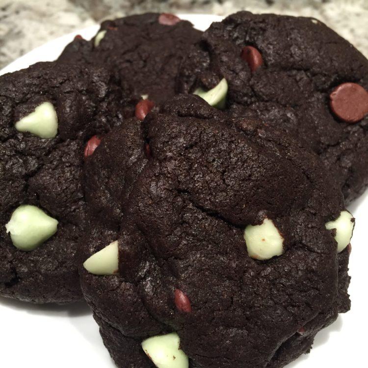 Fudgy Brownie Cookies | Chocolate Mint Chocolate Chip Cookies
