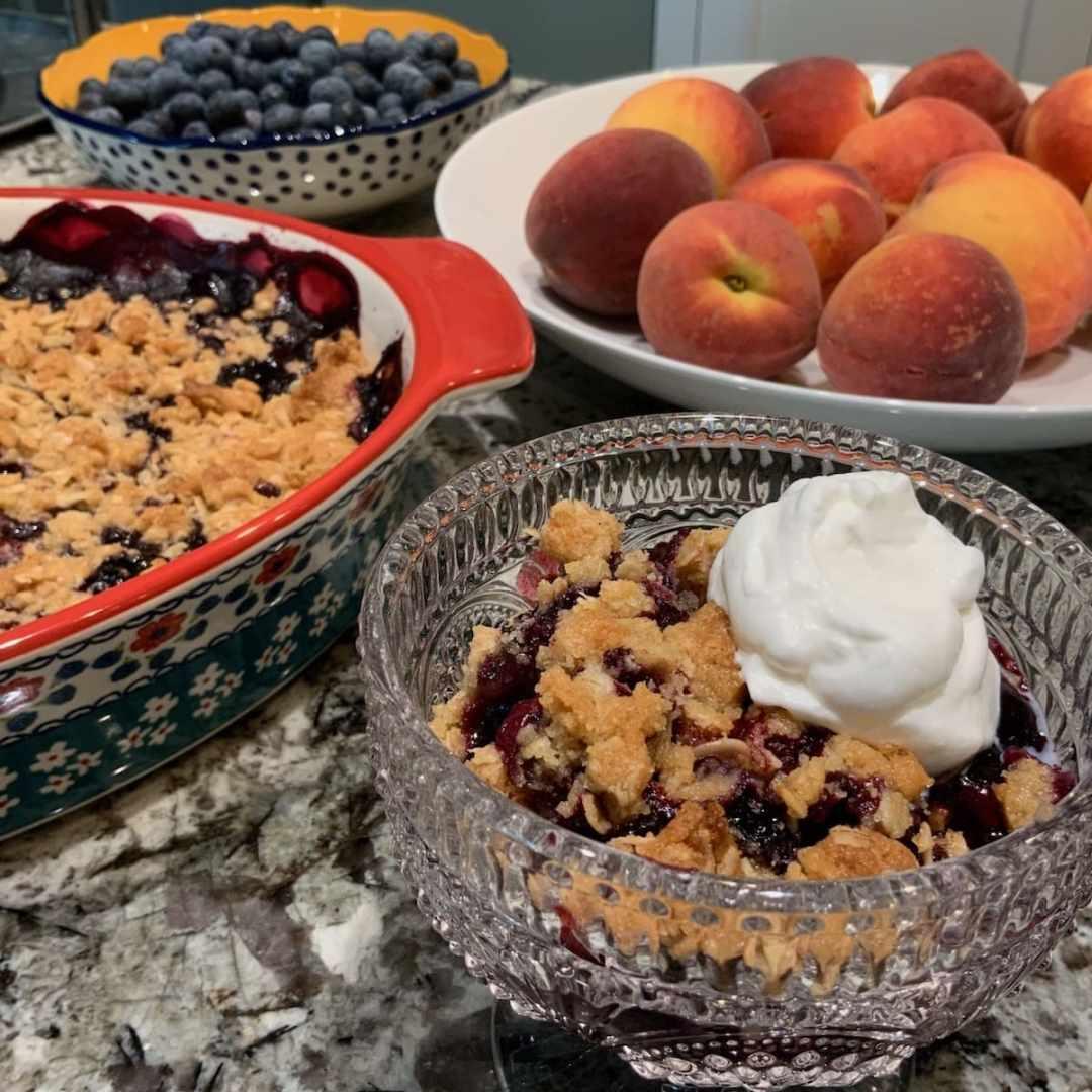 Blueberry Crisp | Fruit Desserts | Summer Baking | Blueberries