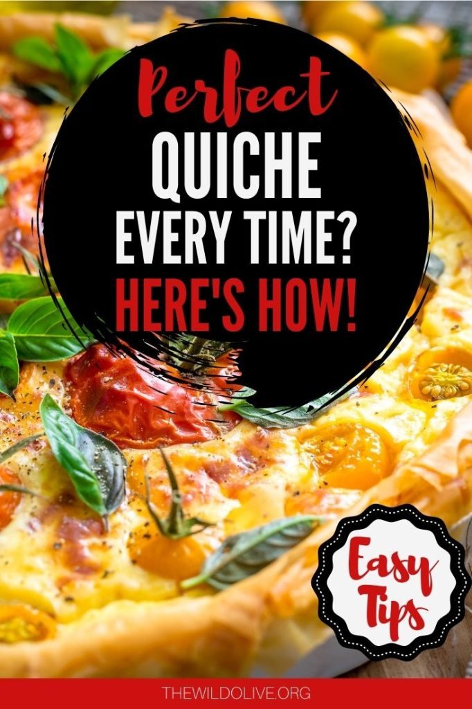 pinnable image for how to bake perfect quiche article