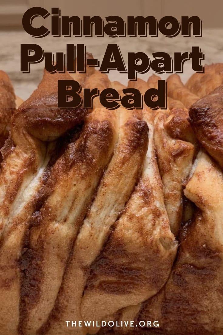 Pinnable image for Cinnamon Pull-Apart Bread Recipe