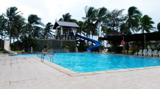 The pool and the slide