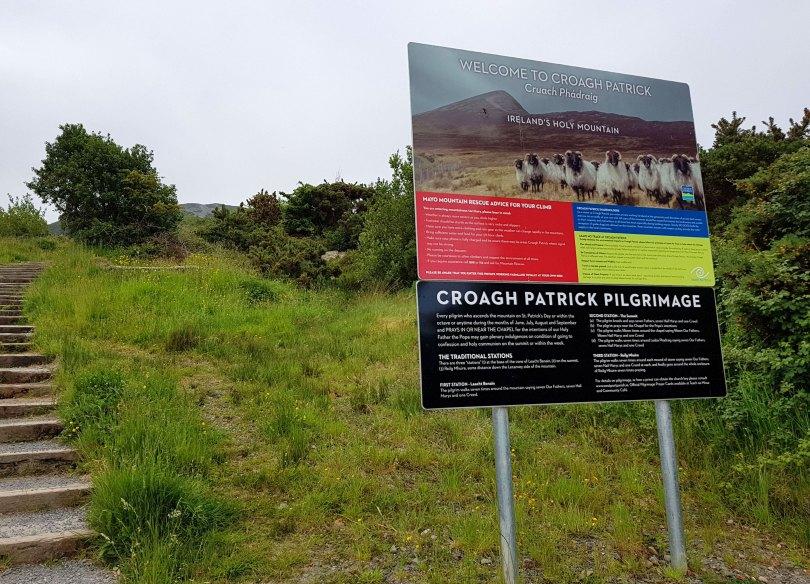Croagh Patrick Climb Beginning