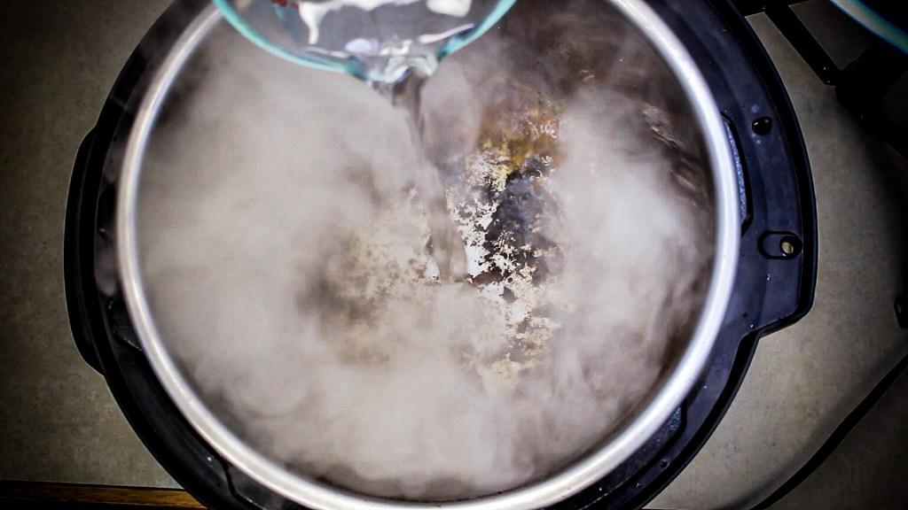 deglazing southwest pork sirloin chop instant pot