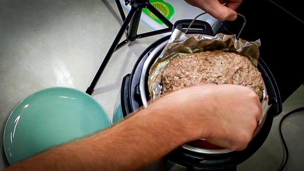 Instant Pot Trivet with a Swedish Meatloaf