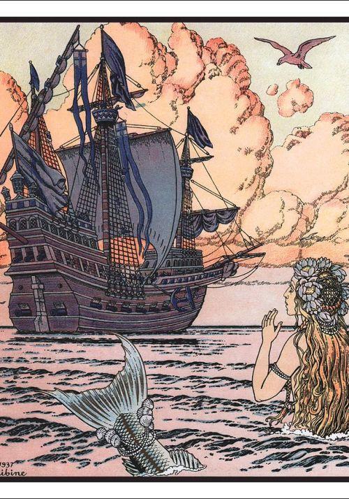 Little Mermaid Ivan Bilibin