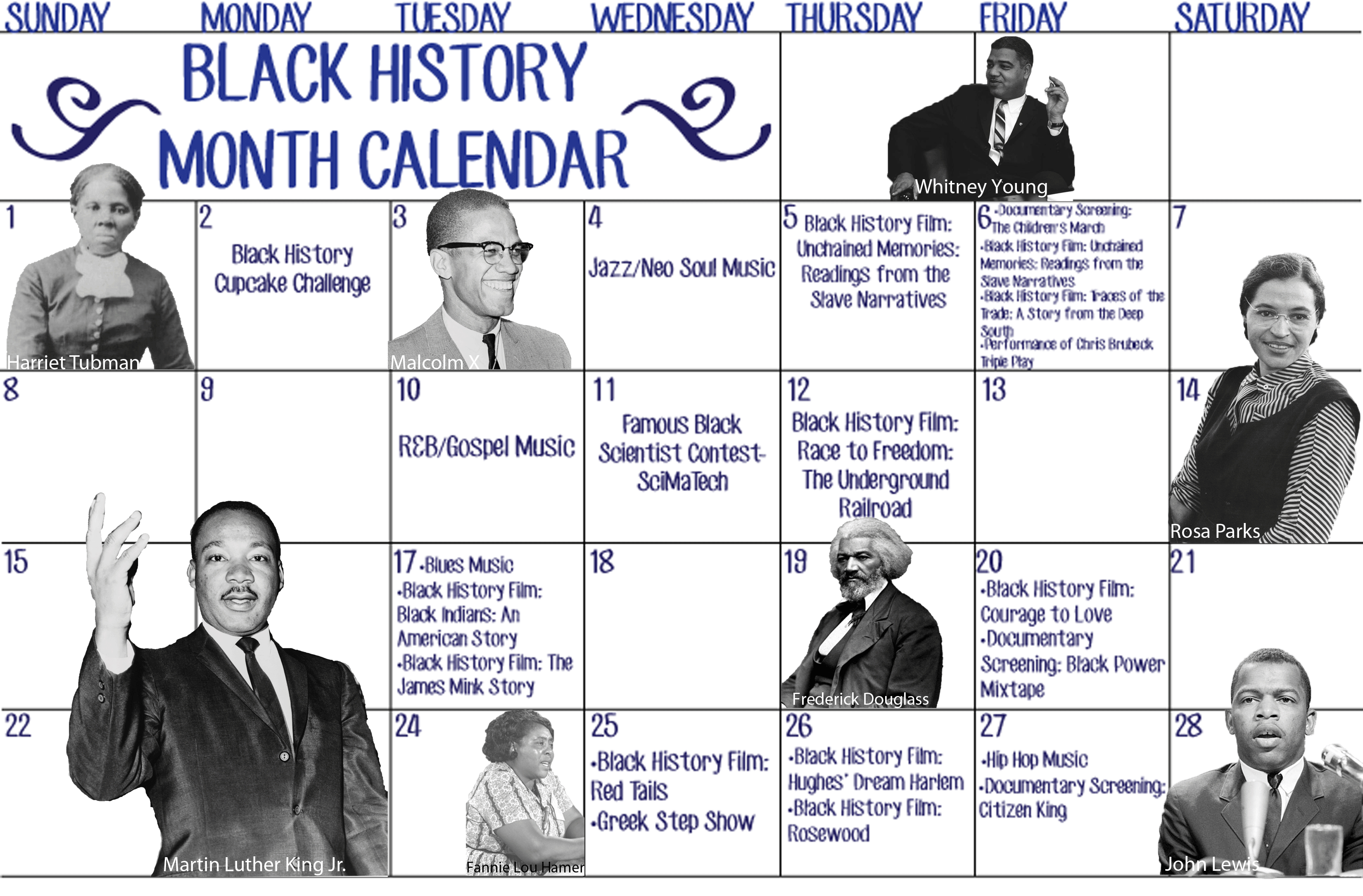 Black History Month Calendar The Wilson Beacon