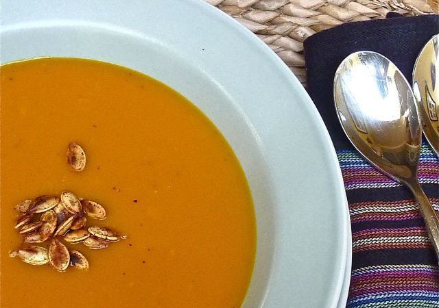 Curried Kabocha Squash – Apple Soup