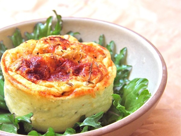 Herbed Goat Cheese Soufflés
